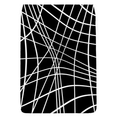 Black and white elegant lines Flap Covers (L)