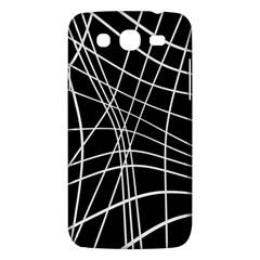 Black and white elegant lines Samsung Galaxy Mega 5.8 I9152 Hardshell Case