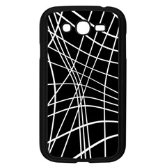 Black and white elegant lines Samsung Galaxy Grand DUOS I9082 Case (Black)