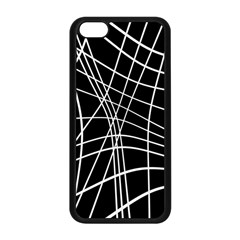 Black and white elegant lines Apple iPhone 5C Seamless Case (Black)
