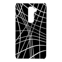 Black and white elegant lines LG G2