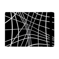 Black and white elegant lines iPad Mini 2 Flip Cases