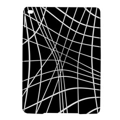 Black and white elegant lines iPad Air 2 Hardshell Cases