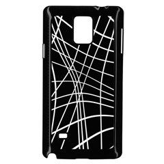 Black and white elegant lines Samsung Galaxy Note 4 Case (Black)