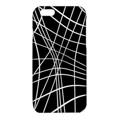 Black and white elegant lines iPhone 6/6S TPU Case