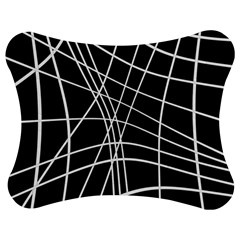 Black and white elegant lines Jigsaw Puzzle Photo Stand (Bow)