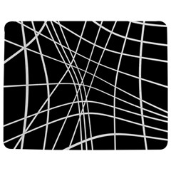 Black and white elegant lines Jigsaw Puzzle Photo Stand (Rectangular)
