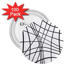 Black and white decorative lines 2.25  Buttons (100 pack)