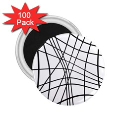 Black and white decorative lines 2.25  Magnets (100 pack)