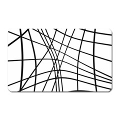 Black and white decorative lines Magnet (Rectangular)