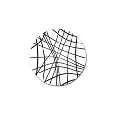 Black and white decorative lines Golf Ball Marker (4 pack)