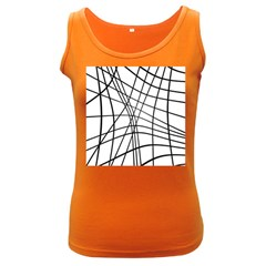 Black and white decorative lines Women s Dark Tank Top