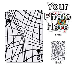 Black and white decorative lines Playing Cards 54 Designs