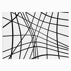 Black and white decorative lines Large Glasses Cloth (2-Side)