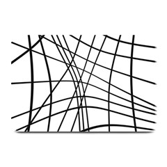 Black and white decorative lines Plate Mats