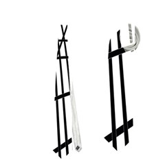 Black and white decorative lines Neckties (Two Side)