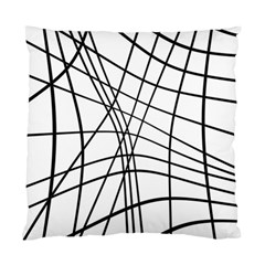 Black and white decorative lines Standard Cushion Case (One Side)