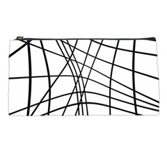 Black and white decorative lines Pencil Cases