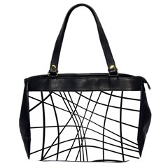Black and white decorative lines Office Handbags (2 Sides)