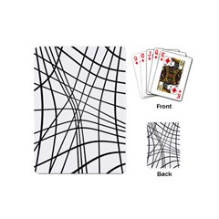 Black and white decorative lines Playing Cards (Mini)