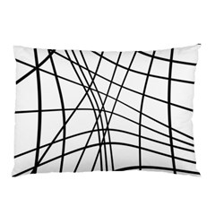 Black and white decorative lines Pillow Case (Two Sides)
