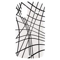 Black and white decorative lines HTC Amaze 4G Hardshell Case
