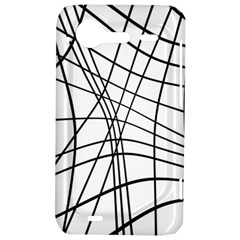 Black and white decorative lines HTC Incredible S Hardshell Case