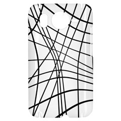 Black and white decorative lines HTC Desire HD Hardshell Case
