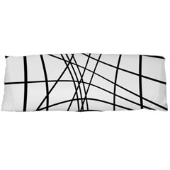 Black and white decorative lines Body Pillow Case Dakimakura (Two Sides)