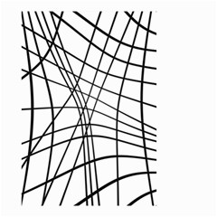 Black and white decorative lines Small Garden Flag (Two Sides)