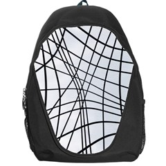 Black and white decorative lines Backpack Bag