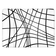Black and white decorative lines Kindle Fire (1st Gen) Flip Case