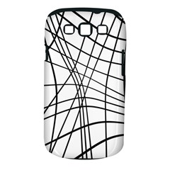 Black and white decorative lines Samsung Galaxy S III Classic Hardshell Case (PC+Silicone)