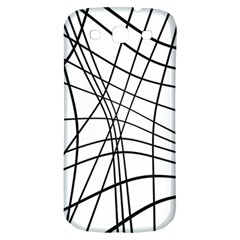 Black and white decorative lines Samsung Galaxy S3 S III Classic Hardshell Back Case
