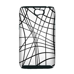 Black and white decorative lines Samsung Galaxy Note 2 Hardshell Case (PC+Silicone)