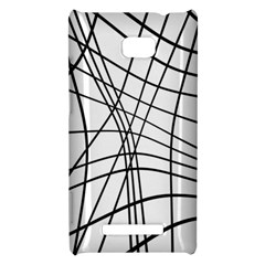 Black and white decorative lines HTC 8X