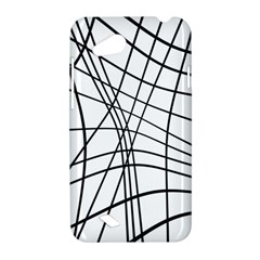 Black and white decorative lines HTC Desire VC (T328D) Hardshell Case