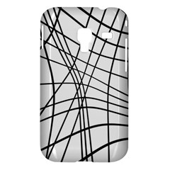 Black and white decorative lines Samsung Galaxy Ace Plus S7500 Hardshell Case