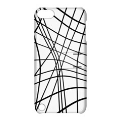 Black and white decorative lines Apple iPod Touch 5 Hardshell Case with Stand