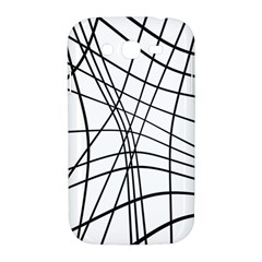 Black and white decorative lines Samsung Galaxy Grand DUOS I9082 Hardshell Case
