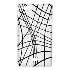 Black and white decorative lines Sony Xperia Miro