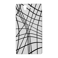 Black and white decorative lines Sony Xperia Z