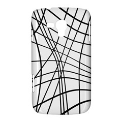 Black and white decorative lines Samsung Galaxy Duos I8262 Hardshell Case