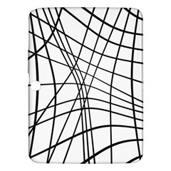 Black and white decorative lines Samsung Galaxy Tab 3 (10.1 ) P5200 Hardshell Case