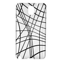 Black and white decorative lines Samsung Galaxy Note 3 N9005 Hardshell Case