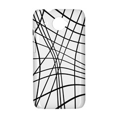 Black and white decorative lines HTC Desire 601 Hardshell Case
