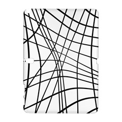 Black and white decorative lines Samsung Galaxy Note 10.1 (P600) Hardshell Case