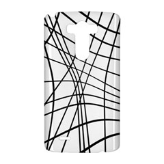 Black and white decorative lines LG G3 Hardshell Case