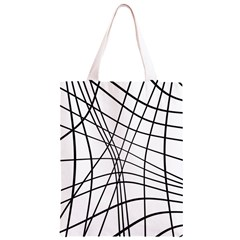 Black and white decorative lines Classic Light Tote Bag