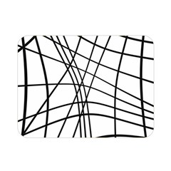 Black and white decorative lines Double Sided Flano Blanket (Mini)